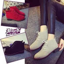 For women's shoes in 2015 han edition new winter leisure with round head short boots fashion joker single shoes with the tide