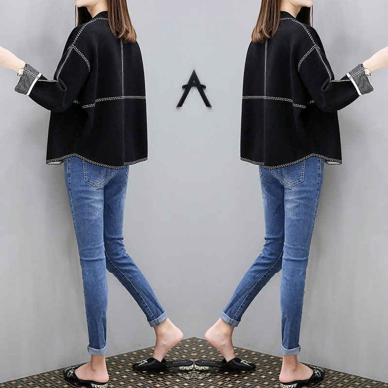Spring and autumn sweater jacket womens Korean version 2019 new autumn versatile top loose small fragrance knitted cardigan