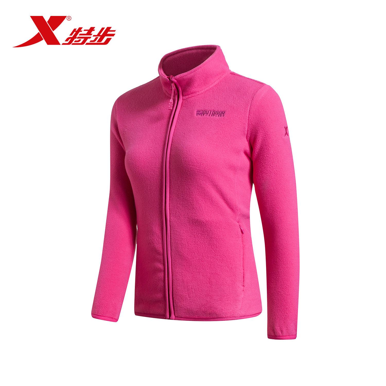 Xtep женщина вязание куртка официальная качественная продукция твердый мягкий теплый на открытом воздухе движение шерсть кардиган женские модели пальто