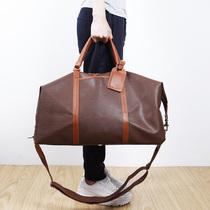 大容量手提包超大行旅包大旅行袋PVC真皮配男士旅行包蓝皮具