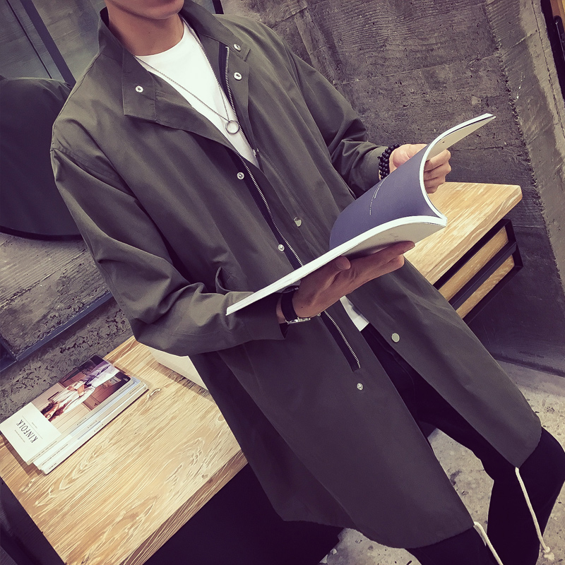學生 修身薄款男士風衣