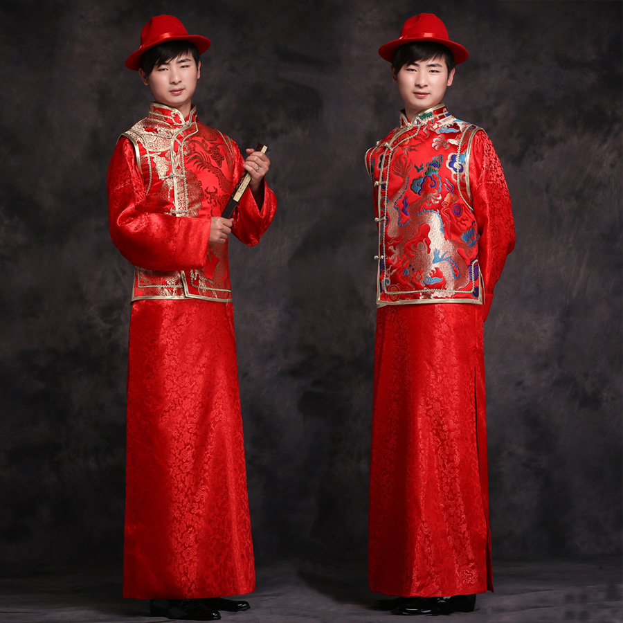 7369f5c63 Chinese Wedding Dress Jacket Male Costume Men Costume Traditional Wedding  Dress And Groom Xiu Toast Clothing Sc 1 St Taobao Depot Taobao Agent