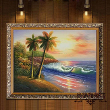 European-style bedroom paintings hangs a picture restaurant seascape decoration painting hand-painted hang a picture