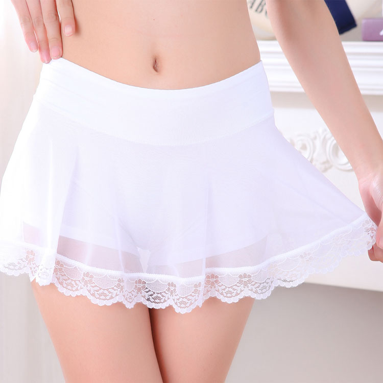 New summer womens modal mesh lace with petticoat, light proof underpants, safety shorts, one-piece skirt