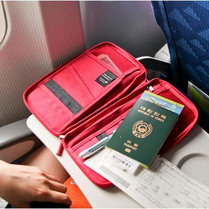 韓國旅行證件包護照包多 卡包出國旅遊護照夾零錢包防水證件袋