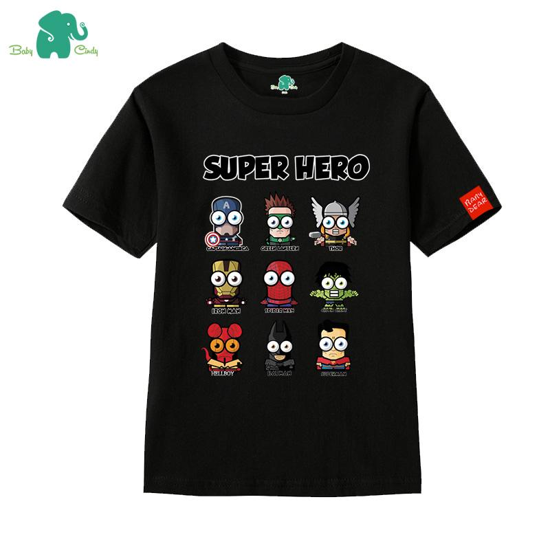 寶心蝶  純棉短袖T恤 中大童可愛印花兒童圓領男童體恤潮