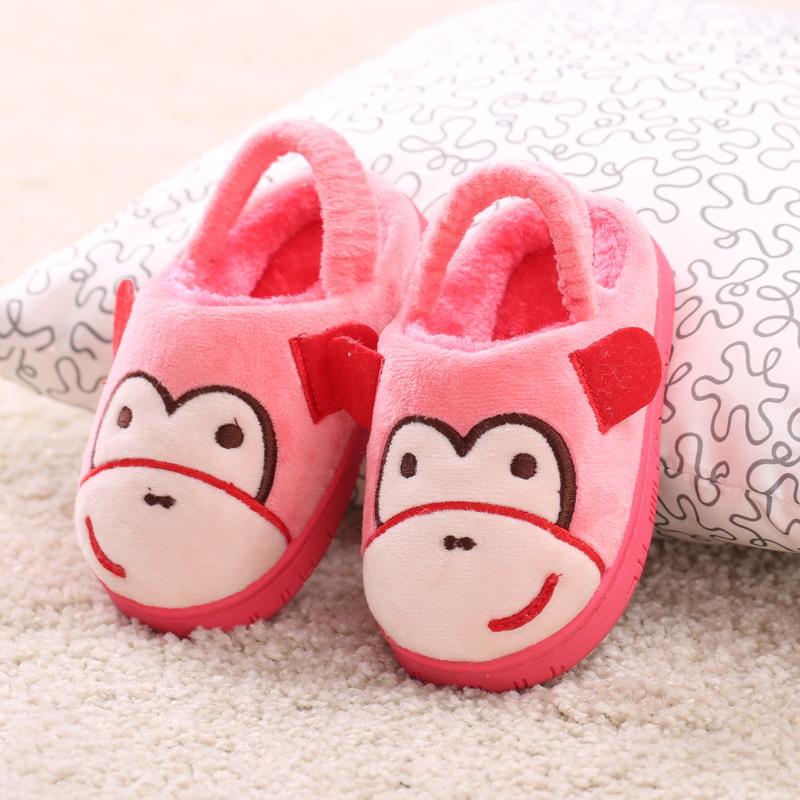 可愛卡通猴子 兒童拖鞋室內防滑寶寶棉拖鞋男女童鞋親子棉拖鞋