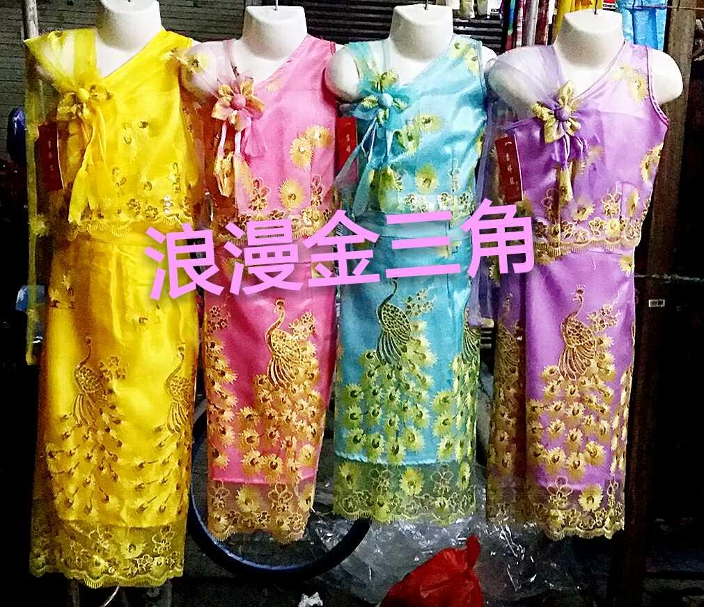 皇冠特�r包�]  泰��舞蹈服� 傣族女童孔雀�p�颖硌莘��b �和�公主