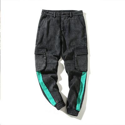 平铺秋季原创日系复古炒雪花水洗休闲裤 两色 A123-P65 控价88