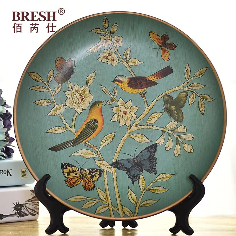 家居裝飾品陶瓷裝飾盤 歐式擺盤 複古擺設工藝品客廳擺件