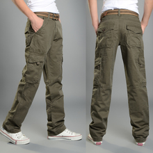 Summer more than thin men loose pocket height leisure trousers overalls outdoor pants army more casual pants