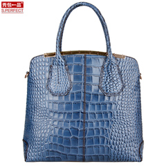 Show a leather handbag crocodile grain bag 2015 new Europe shoulder tote bag for fall/winter woman