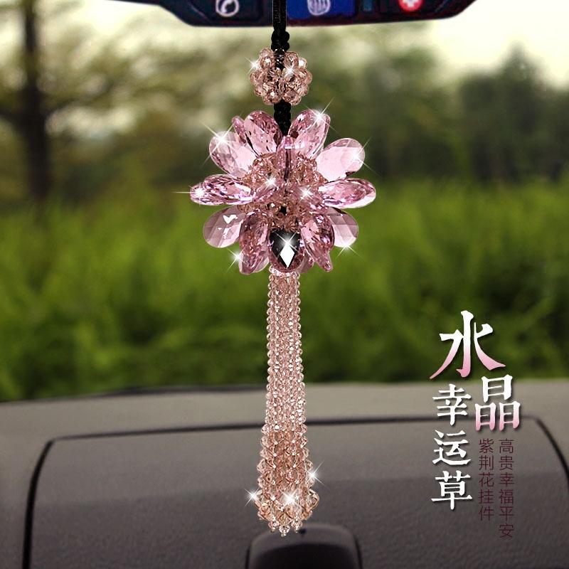 水晶汽车挂件挂饰女士车后视镜挂件车用挂件车载饰品车内水晶车饰