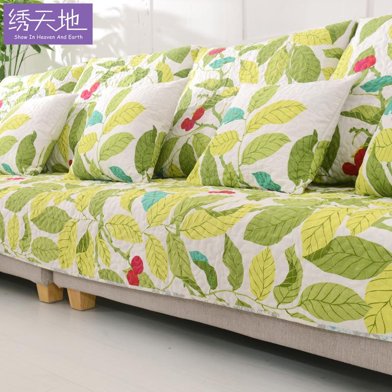 10-19新券四季通用沙发垫欧式布艺现代棉亚麻垫子防滑沙发套罩巾组合坐垫