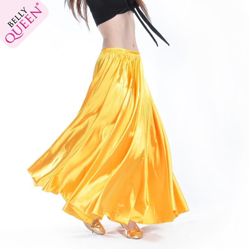 Атласные юбки живота танцоров и положить на юбках, танец юбки, танец живота сцене платье цвет, блестящие юбки живота