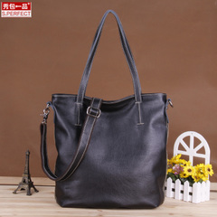 Fall/winter show packs a European fashion brand for 2015 new leather women bag woman shoulder hand bag