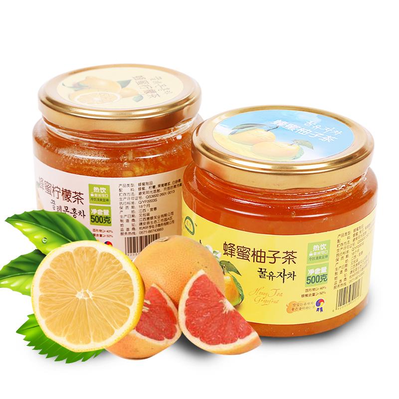 ~天貓超市~環亨 蜂蜜柚子茶500g 蜂蜜檸檬茶500g 衝飲品^#^%