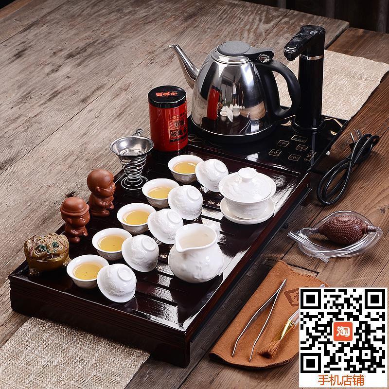 Чай в Исин фиолетовый песок чайный набор пакетов спец керамика кунг-фу плита твердой древесины чай лоток Комбо