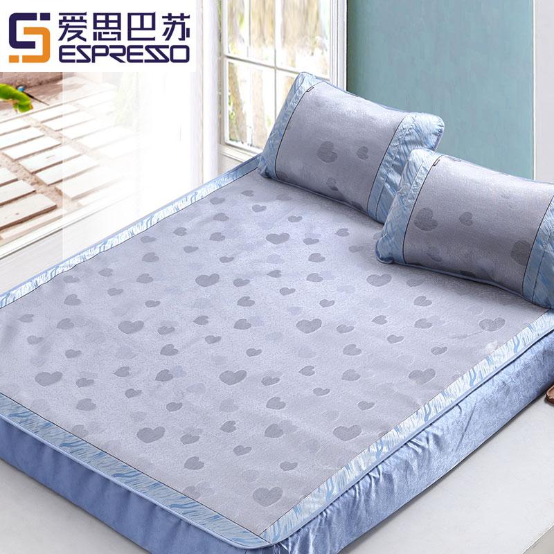 床笠款冰丝凉席1.8m床上2米空调席房夏天凉滑1.5夏季席子三件套