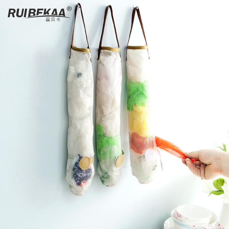 蕊贝卡厨房果蔬杂物收纳网袋挂袋可挂式大蒜洋葱储物袋透气置物袋