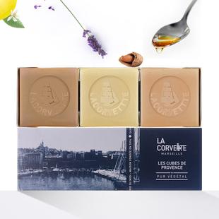 LA CORVETTE масло мыло подарок 100g*3 импорт контроля уровня масла угри ручной работы мыло сборка подарок