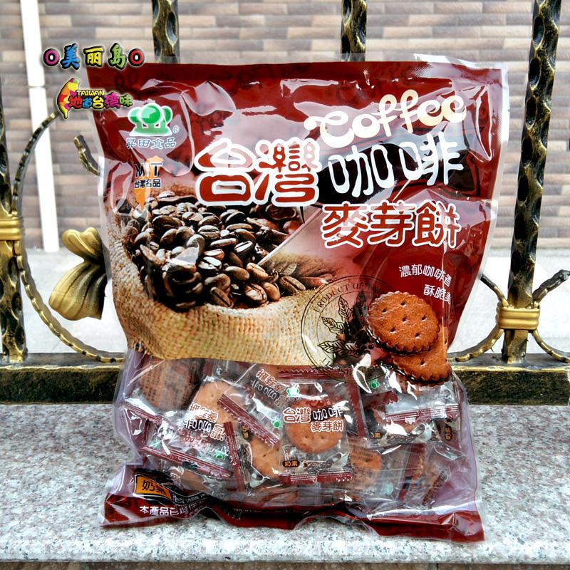 台湾进口�N田黑糖麦芽饼500g奶素夹心饼干升田咖啡起司榴莲多口味