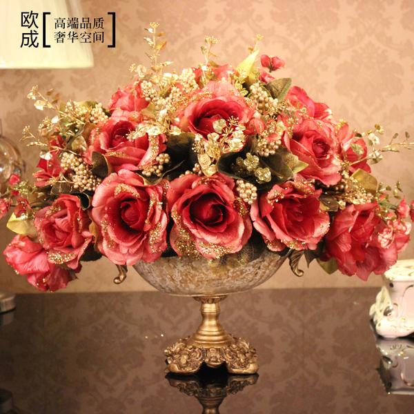 现代仿真花套装假花成品客厅花瓶仿真花套装家居装饰欧式仿真花艺