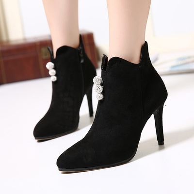 2016 pointed high heel stiletto women boots's main photo
