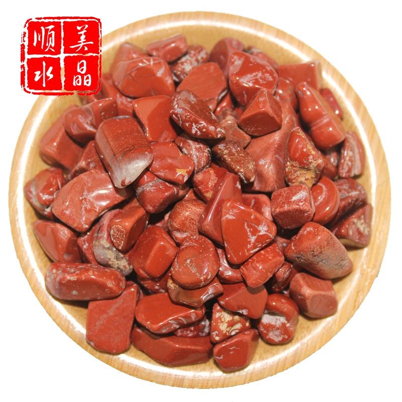 Послушный прекрасный кристалл новые товары природный красного bi нефрит гравий DIY аквариум цветочный горшок магазин подушка для будда камень энергия камень курица кровь камень