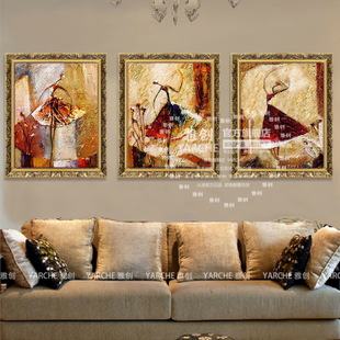 Ya Chong pure hand painted oil painting framed painting decorative painting living room bedroom background wall art painting first ballet