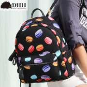 DHH Korea new print backpack outdoor sports bag college students small wind bag bag backpack surge