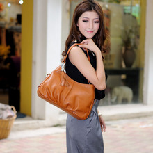 M she Lin brand leather euramerican fashion tide female bag in the summer of 2015 in bag leisure portable his single shoulder bag