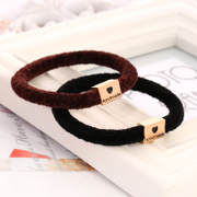 Know Connie hair accessories cashmere hair jewelry rings made by the Korean version of the luxury box alloy hair elastic rope string