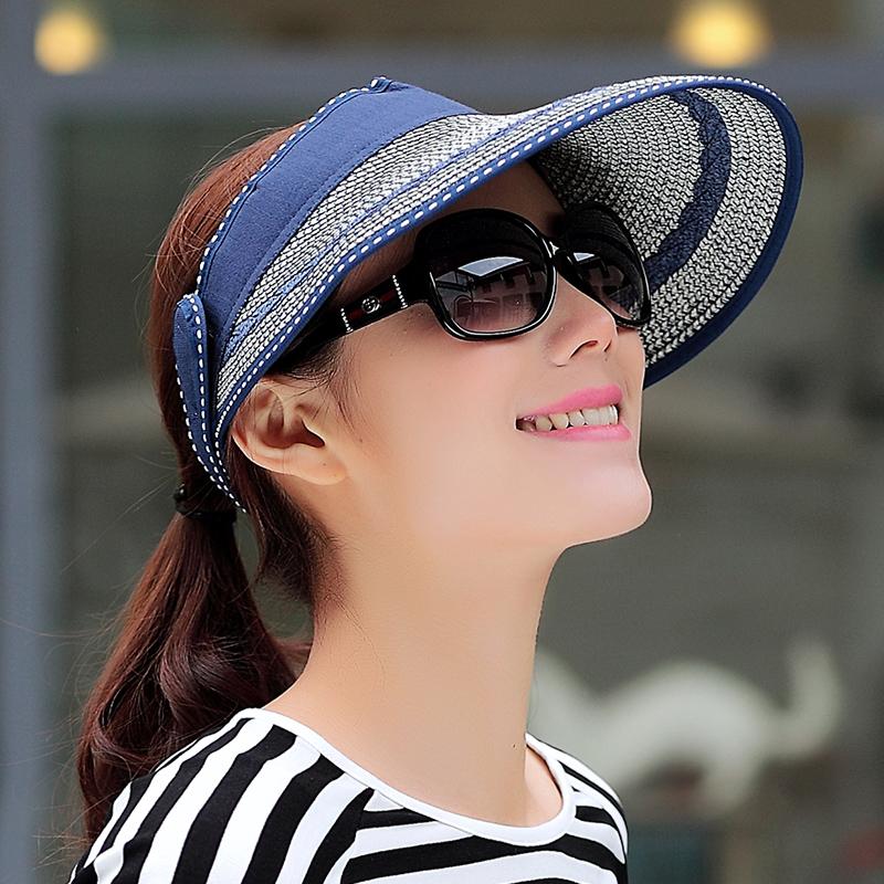 沙灘帽 遮陽帽子女士夏天草帽防曬帽防紫外線太陽帽女涼帽旅遊
