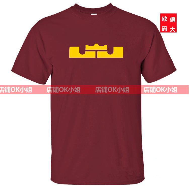 Подписывает новый LBJ Джеймс Леброн Джеймс баскетболистов с коротким рукавом футболки магазины ОК Мисс