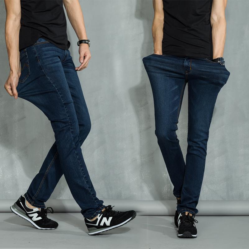 Весной стрейч джинсы упругой Хань молодых Штаны мужские тонкие прямые ноги плюс Размер Мужская одежда на осень/зима прилив