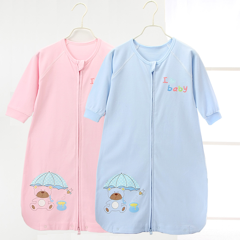 Baby sleeping bag summer single layer thin baby sleeping bag men and women children air conditioned room split leg anti kick by 1-4 years old