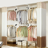 simple and easy Fabric art Combination wardrobe bedroom Steel frame Assemble Cloakroom Indomitable diy Lifting locker