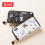 Wheat bags 2015 new cartoon graffiti wallet handbag cute cute pet of Japan and South Korea the wind change bag ladies wallet