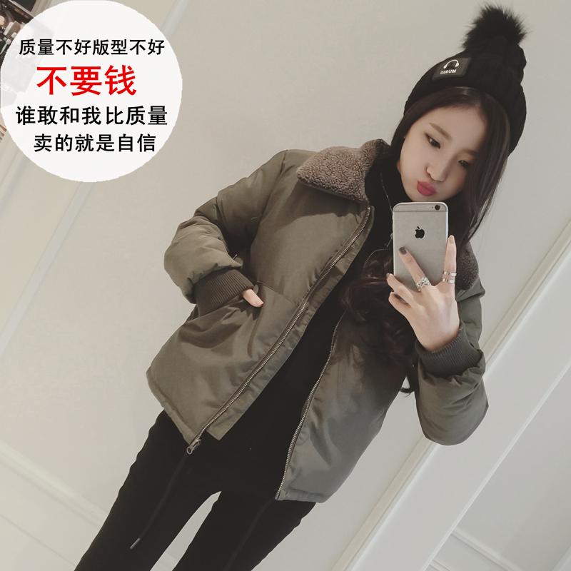 反季加厚2018韩国冬仿羊羔毛棉袄面包短款服小棉衣女装外套显瘦