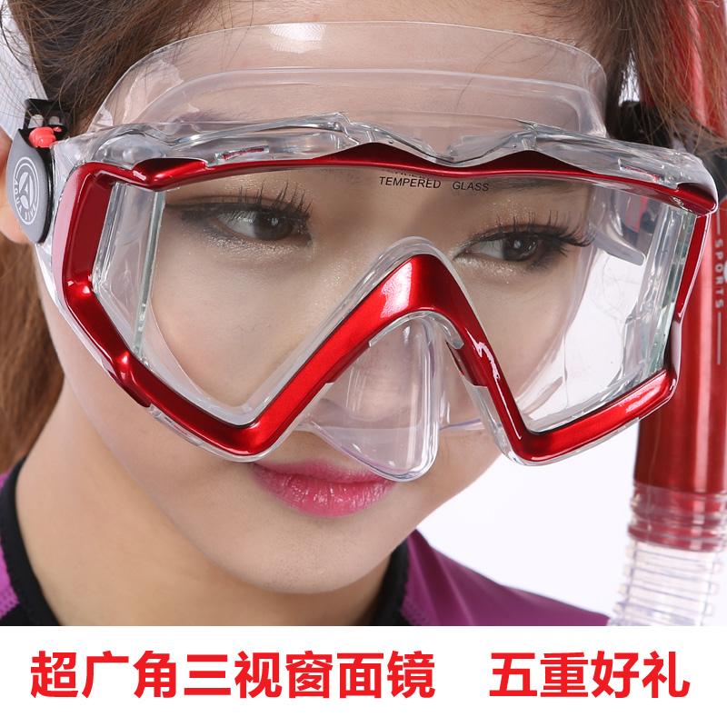 AQUA DIVE три окна широкие очки + новый полный сухой соломы устанавливает (snorkel снаряжение для дайвинга)