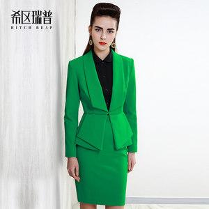 希区瑞普 高端复古套装 女 名媛新款修身OL职业女装半身裙T0051