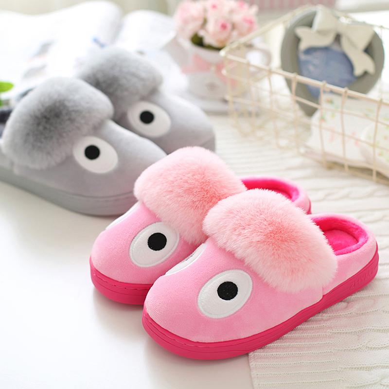 秋 男女款貓咪情侶棉拖鞋全包跟保暖防滑居家月子棉鞋 包郵