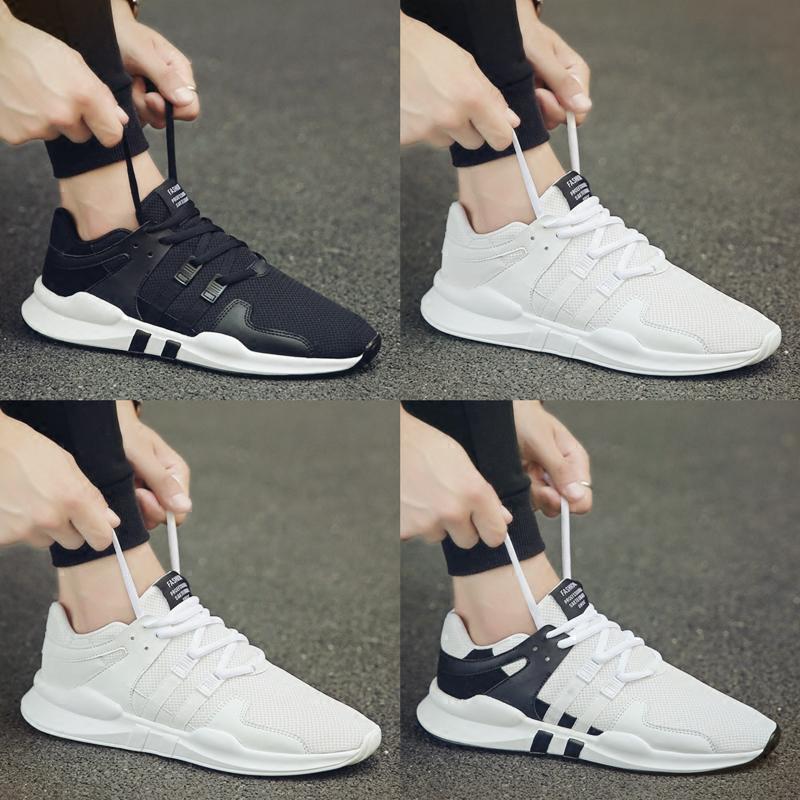 夏季透气网鞋男士休闲运动男鞋韩版潮流跑步潮鞋百搭网面小白板鞋