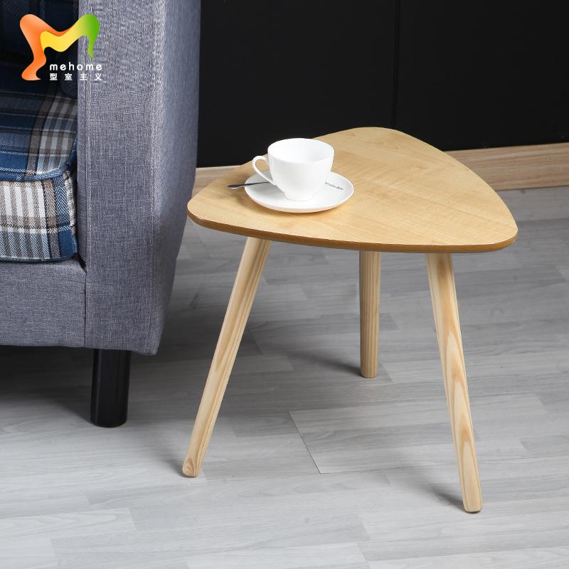Тип комната учение диван край стол маленький столик простой современный дерево нога кофейный столик маленькие круглые стол кровать край стол сторона угловой