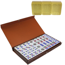 Gift Crystal Tube Brand 8-point competition with Southeast Asian Mahjong 3 layers Crystal Boy Mahjong