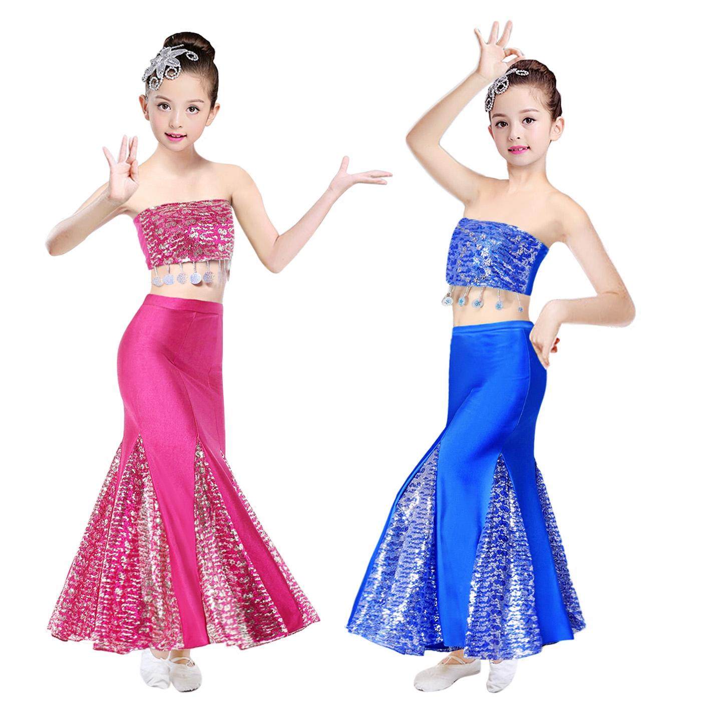 儿童傣族舞蹈服少儿孔雀舞演出服装艺考表演服彩云之南舞蹈演出服