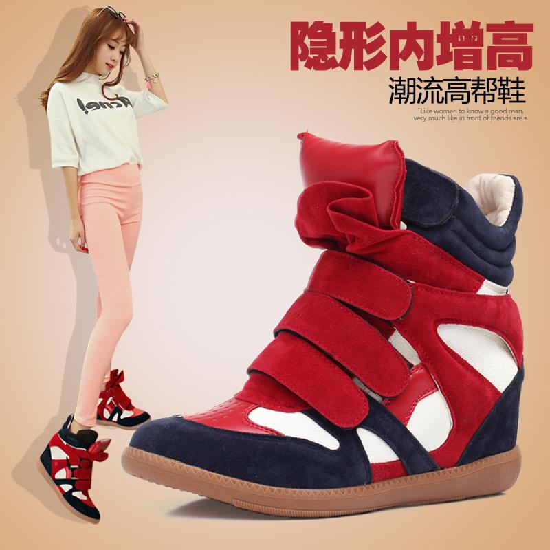Осенью 2015 корейской версии и кашемир бум заклинание стелс увеличение Талль обувь женская обувь Обувь на липучке спортивные туфли