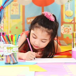 真彩水彩笔36色酷丫儿童水彩笔绘画笔 桶装可洗水彩笔CWP-2600-36