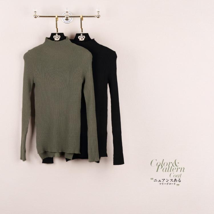 Конец скошенным темная вертикальная черта высокой упругой трикотаж асимметричный подол свитер пуловер 2016 осень корейские платья